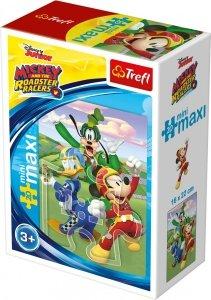 TREFL Puzzle miniMaxi 20 el. Miki i raźni rajdowcy, Myszka Mickey (21027)