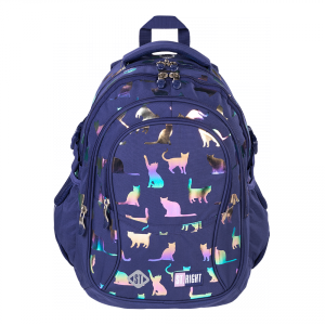 Plecak szkolny młodzieżowy ST.RIGHT kotki, HOLO CATS BP1 (39364)