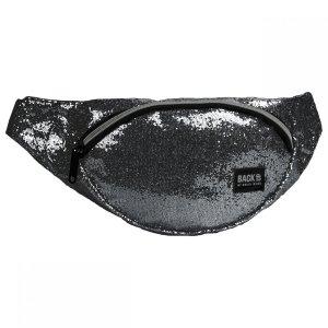 SASZETKA NERKA BackUP na pas torba brokatowa, SREBRNA (TBB3B56)