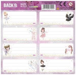 Nalepki na zeszyty BackUP DANCE Baletnica (NNZB3A21)