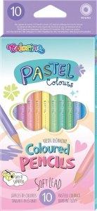 Kredki ołówkowe 10 kolorów COLORINO PASTEL (80813)