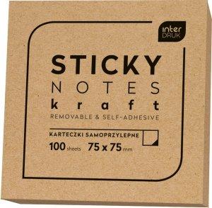 Karteczki samoprzylepne STICKY NOTES KRAFT notes kostka EKO (95651)