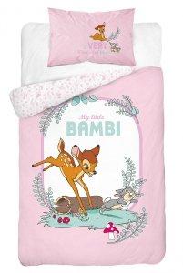 Komplet pościeli pościel Bambi RÓŻOWA Jelonek 100X135 (BAMBI_02A)