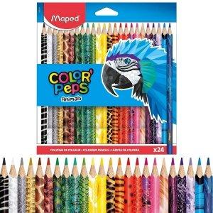 Kredki ołówkowe Colorpeps Animals 24 kolory MAPED (22245)
