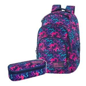 ZESTAW 2 el. Plecak CoolPack VANCE 20 L serca, DRAWING HEARTS (C37141SET2CZ)