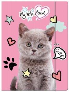 Teczka rysunkowa A4 z gumką My Little Friend KITTY Kotek (28214)