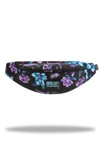 SASZETKA NERKA CoolPack na pas torba TRICK w kwiaty na ciemnym tle, VIOLET DREAM (C78198)