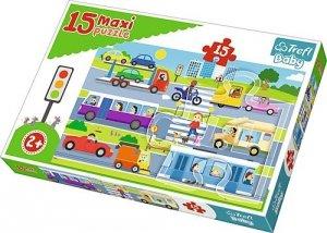 TREFL Puzzle 15 Maxi Pojazdy miejskie (14279)
