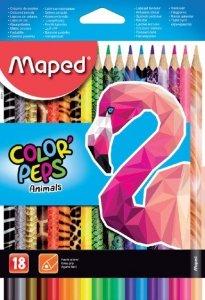 Kredki ołówkowe Colorpeps Animals 18 kolorów MAPED (22184)