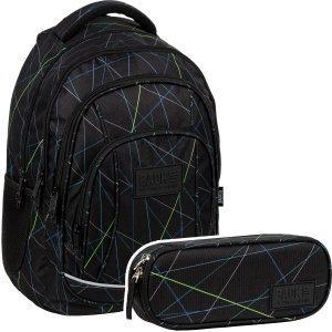 ZESTAW 2 el. Plecak szkolny młodzieżowy BackUP 26 L  LASER (PLB3A48SET2CZ)