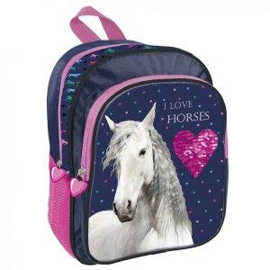 Plecak przedszkolny wycieczkowy I LOVE HORSES Konie (PL11KO17)
