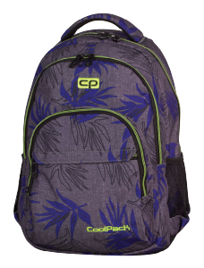 Plecak CoolPack BASIC szary w niebieskie liście, PALM LEAVES 971 (71093)