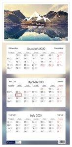 Kalendarz ścienny trójdzielny PODRÓŻE 2021 (72805)