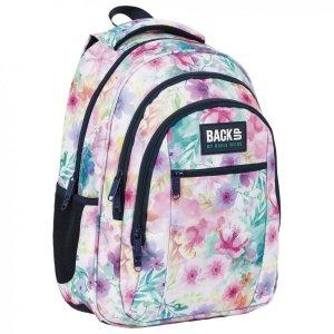 Plecak szkolny młodzieżowy BackUP 26 L kwiaty, WIOSENNY (PLB4O18)