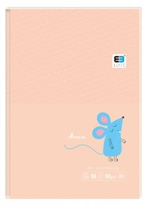 Brulion notes A6 96 kartek w kratkę MAUSE myszka B&B Kids (61281)