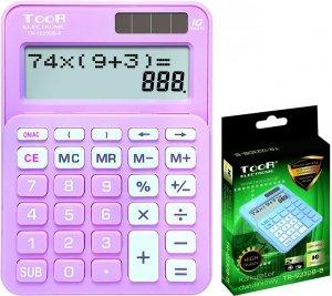 Kalkulator dwuliniowy TOOR różowy (120-1902)