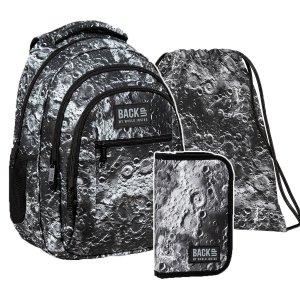 ZESTAW 3 el. Plecak szkolny młodzieżowy BackUP 26 L  KSIĘŻYC (PLB3O49SET3CZ)