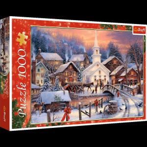 TREFL Puzzle 1000 el.  Białe święta (10602)