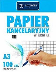 Papier kancelaryjny w kratkę 100 arkuszy (70545)