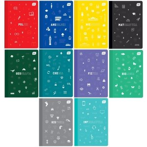 Zeszyt tematyczny 10 przedmiotów A5 60 kartek polipropylenowa okładka (ZEST10EL)