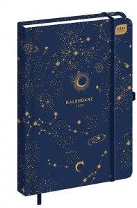 Kalendarz książkowy A5 GALAXY 2021 (92858)