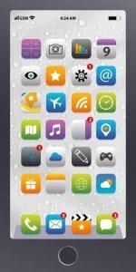 Ręcznik kąpielowy 70x140 IPHONE smartfon plażowy (WZ.48)