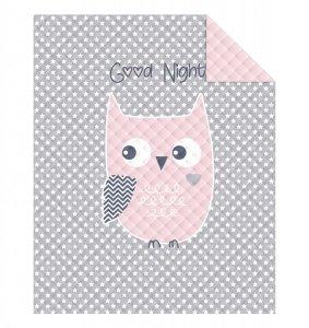 Narzuta dziecięca na łóżko SOWA OWL 170 x 210 cm (WZ.K01)