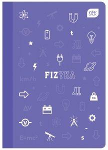 Zeszyt tematyczny przedmiotowy A5 60 kartek w kratkę z polipropylenową okładką FIZYKA (93985)