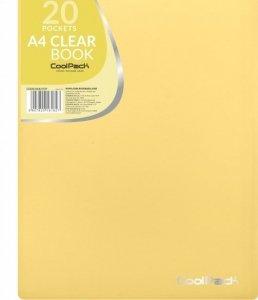 Teczka na dokumenty A4 z koszulkami Skoroszyt CoolPack PASTEL YELLOW żółta (81827CP)