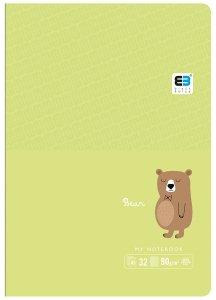 Zeszyt A5 w kolorową linię 32 kartek BEAR niedźwiedź (61311)