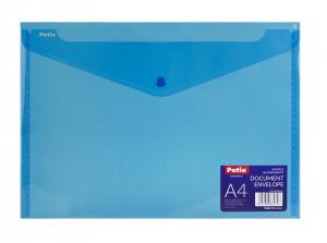 Teczka koperta transparentna na dokumenty A4 PATIO niebieska (PAT3133A/N/18)