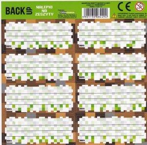 Nalepki na zeszyty BackUP GAME dla fana gry MINECRAFT (NNZB4A68)