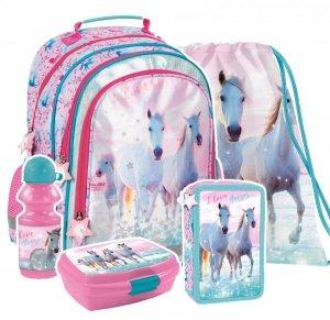 ZESTAW 5 el. Plecak szkolny I Love Horses KONIE (PL15BKO22SET5CZ)