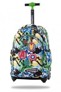 Plecak CoolPack JACK na kółkach z naszywkami, AVENGERS BADGES (B53308)