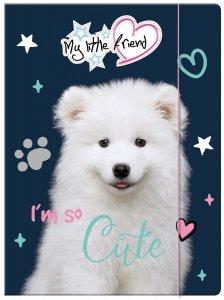 Teczka rysunkowa A4 z gumką My Little Friend CUTE DOG Piesek (28214)
