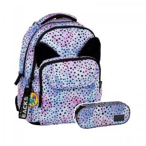 ZESTAW 2 el. Plecak szkolny młodzieżowy BackUP OCELOT z uszami (PLB2L12SET2CZ)