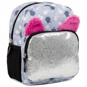 Plecak wycieczkowy BackUP z uszami GLOSSY GRAY (PLB3U59)