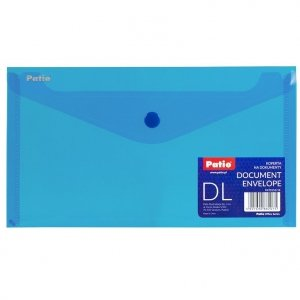 Teczka koperta transparentna na dokumenty DL PATIO niebieska (PAT3153/N/18)
