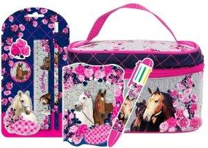 Zestaw Upominkowy 7 el. Kuferek kosmetyczka I LOVE HORSES Konie (KKBKO13SET)