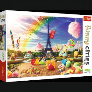 TREFL Puzzle FUNNY CITIES 1000 el. Słodki Paryż (10597)