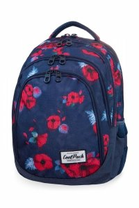 Plecak CoolPack DRAFTER w czerwone maki, RED POPPY (B05025)