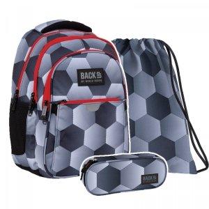 ZESTAW 3 el. Plecak wczesnoszkolny BackUP 24 L piłka nożna, FOOTBALL (PLB4P52SET3CZ)