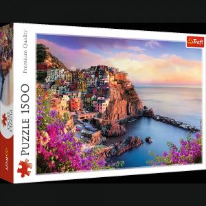 TREFL Puzzle 1500 el. Widok na miasteczko Manarola (26137)