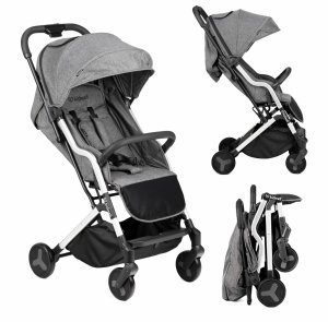 Wózek spacerowy MAVERO - srebrny / czarny  (WOSPMAV03A0)