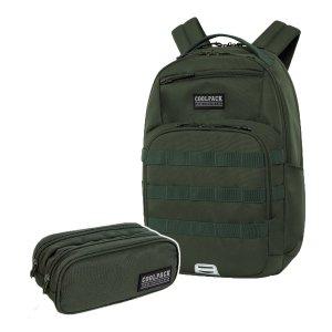 ZESTAW 2 el. Plecak CoolPack ARMY 27 L zielony, GREEN (C39255SET2CZ)