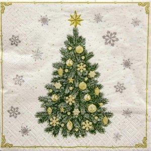Serwetki dekoracyjne Frosty Tree CHOINKA 33x33 cm (SDL011400)