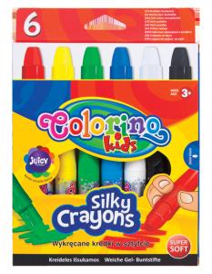 Kredki wykręcane żelowe 6 kolorów 3 w 1 COLORINO KIDS  (36061)