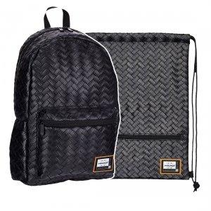 ZESTAW 2 el. Plecak HEAD czarny BLACK HD-349 (502019084SET2CZ)