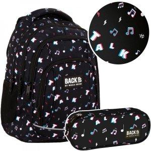 ZESTAW 2 el. Plecak szkolny młodzieżowy BackUP 26 L TALK (PLB4A16SET2CZ)TIK TOK