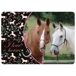 Podkładka laminowana I LOVE HORSES Konie (PLAKO19-10)